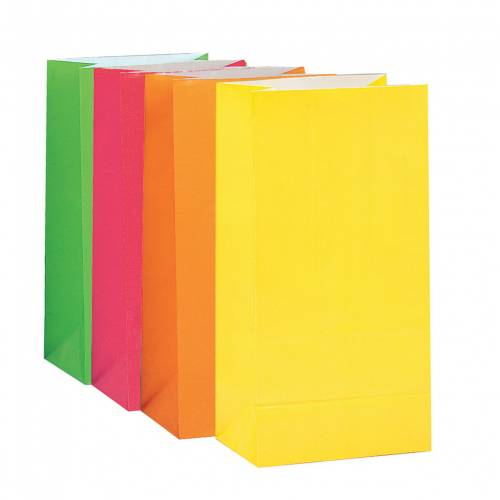 Paper Loot Bags Neon
