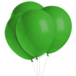 Party Balloons Green