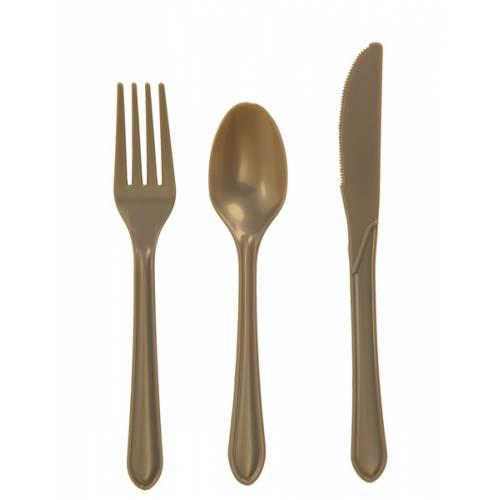 Plastic Gold Knives