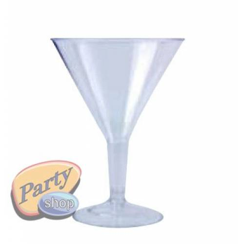 Plastic Martini Cocktail Glasses