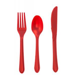 Plastic Red Forks