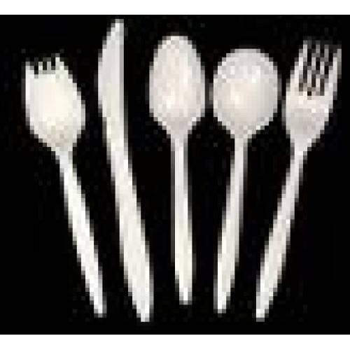 Plastic Spoons White