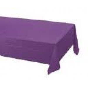Plastic Table Cover Rectangle Purple