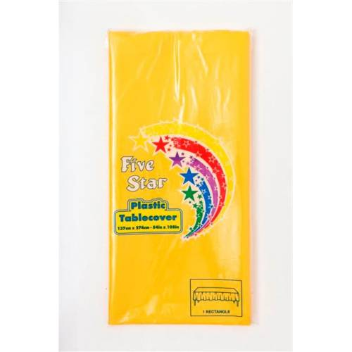 Plastic Table Cover Rectangle Yellow