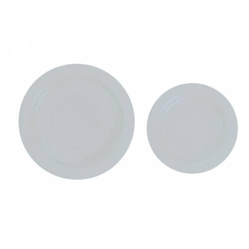 Plastic White 18cm Plates