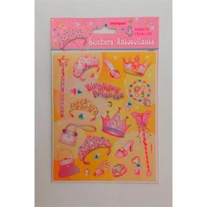 Princess Party Supplies Princess Stickers