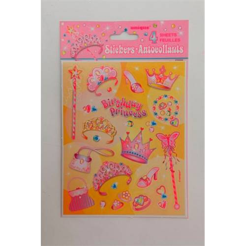 Princess Party Supplies Princess Stickers