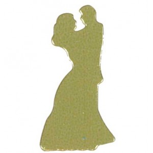 Scatter Confetti Bride and Groom Gold