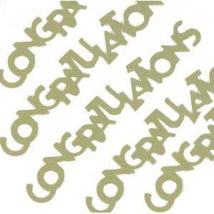 Scatter Confetti Congratulations Gold
