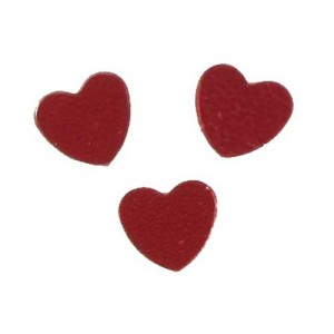 Scatter Confetti Heart Small Red