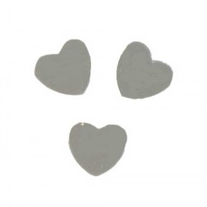 Scatter Confetti Heart Small Silver