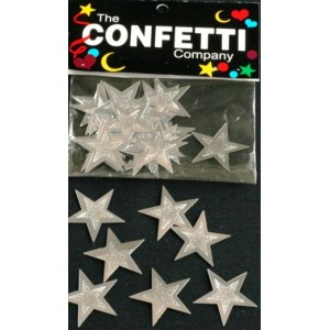 Scatter Confetti Star Large Embossed Silver