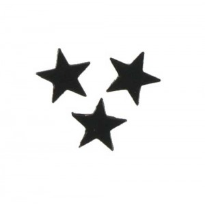 Scatter Confetti Star Small Black