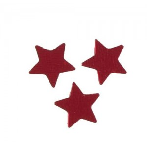 Scatter Confetti Star Small Red