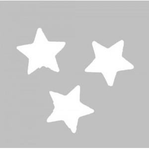 Scatter Confetti Star Small White