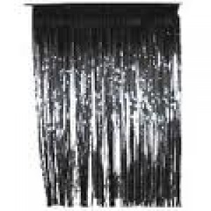 Slit Foil Curtain black