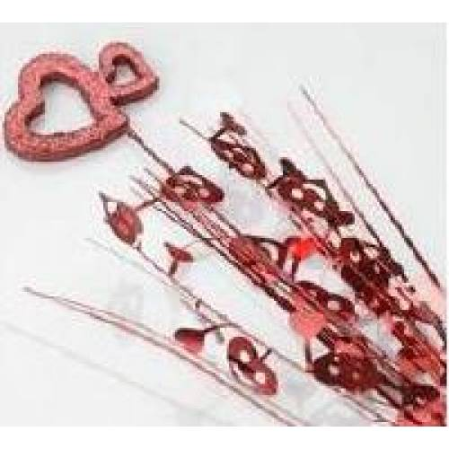 Spangle Red Hearts