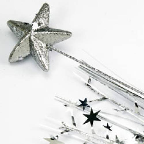 Spangles star Foam Star Silver