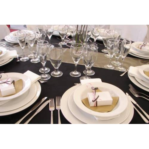 Table Setting - Black Linen