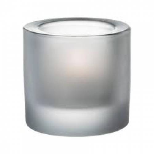 Tealight Holder 60mm Round, frosted.