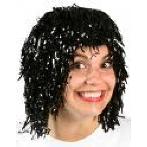 Tinsel Wig Black