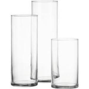 Vase, Cylinder 8cm x 18cm.