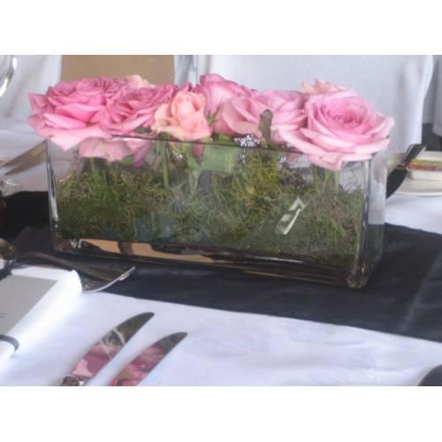 Trough Vase with Floral Arrangement