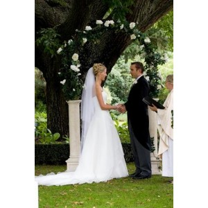 Wedding Arch - Italian Decorated 1.6m White Floral
