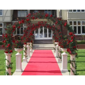 Wedding Arch - Italian Decorated 2.4m Red Floral