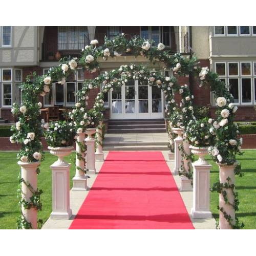 Wedding Arch - Italian Decorated 2.4m White Floral