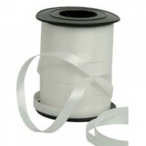 White Curling Balloon Ribbon
