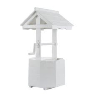 Wishing Well - White Wood (medium)