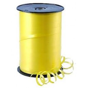 Yellow Curling Balloon Ribbon