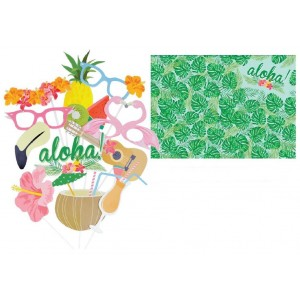Aloha Hawaiian Photo Booth Props
