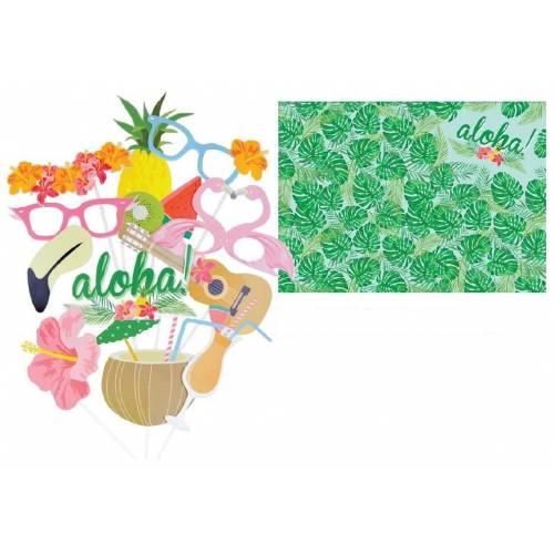 Aloha Hawaiian Photo Booth Props
