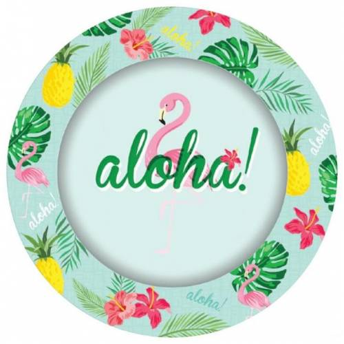 Hawaiian Party Plates