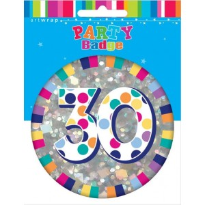 Badge Large 30th Birthday