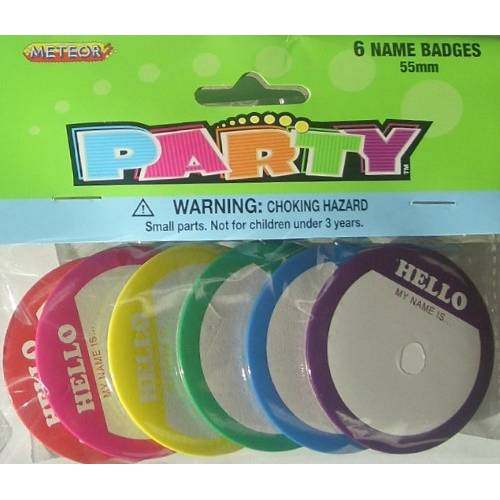 Party Badges 6pk
