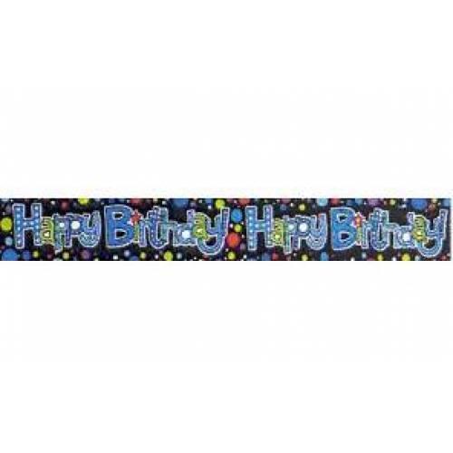 Banner Happy Birthday Dots