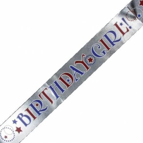 Birthday Girl Plastic Sash