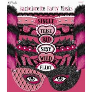 Bride To Be 6pc Masks