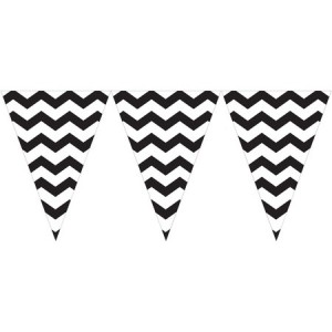 Bunting Flag Banner Chevron Black