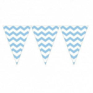 Bunting Flag Banner Chevron Blue