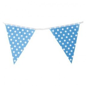 Bunting Flag Banner (Large) Polka Dot Blue