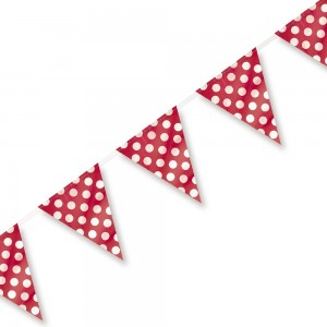 Bunting Flag Banner (Large) Polka Dot Red