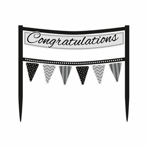 cake topper congratulations banner