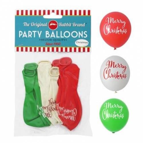 """Christmas """"Merry Christmas"""" Balloons 8pk"""