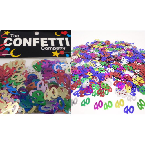 Confetti Scatters 40th Mix Numbers