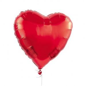 Foil Balloon Heart Polka Dots