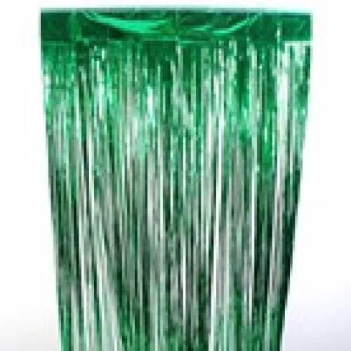 Slit Foil Curtain silver